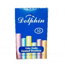 Мел цветной 10шт DOLPHIN