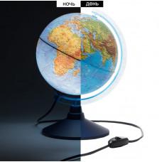 Глобус физико-политический D32см J310  с подсветкой на круглой подставке