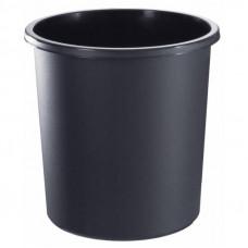 Корзина для бумаг 12 л цельная черная KP11