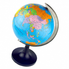 Глобус физико-политический D25см на круглой подставке