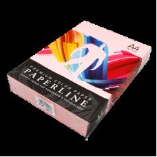Цветная бумага офисная А4160 гр/250л №170 PINK - розовая Paperline
