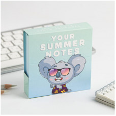 """Блок для записи ArtFox """"Your summer notes"""", 9*9*3см, 250л., картонный футляр"""