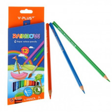 Карандаши цв.12цв+точилка Акварель Y-PLUS RainbowPX1302