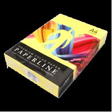 Цветная бумага офисная А4 80 гр/500л №210 LEMON - Насыщенно-желтая Paperline