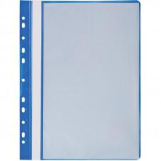 Папка синяя 10 файловая с перфорацией HuaHang
