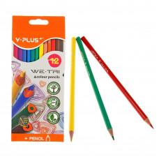 Карандаши цветные 12цв. Y plus PC110403