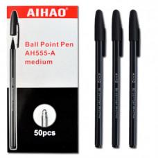 Ручка шарик, 555-A BP черный стер,