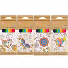 Карандаши цветные 12 цв YL817150-12