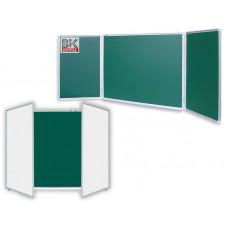 Доска маркерно-меловая/магнитная трехсекционная100х300см