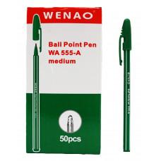 Ручка шарик, 555-A BP зеленый стер