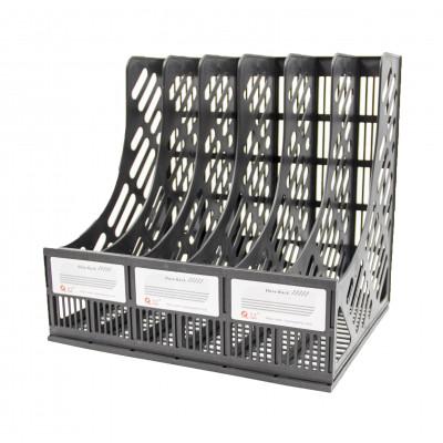 Лоток вертикальный 6-ти секционный пластиковый Longbifa A4 WeiWei