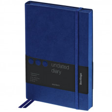 "Ежедневник недатир. A5, 136л., кожзам, Berlingo ""Western"", с резинкой, синий"