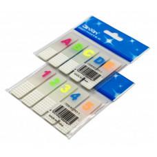 Закладки самоклеящиеся пластик ABCDE
