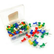 Кнопки силовые цветные в пластиковом боксе, Ding Li