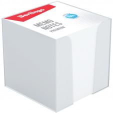 """Блок для записи Berlingo """"Premium"""", 9*9*9, пластиковый бокс, белый, 100% белизна¶"""