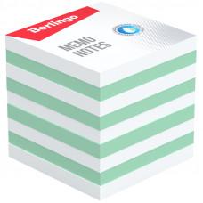 """Блок для записи Berlingo """"Standard"""", 9*9*9 см, цветной, белый, зеленый"""