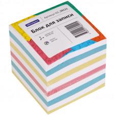Блок для записи OfficeSpace, 9*9*9см, ассорти, эконом