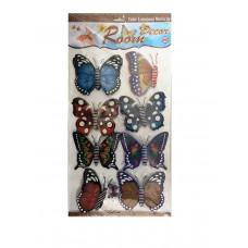 Наклейки АА 001-012 (бабочки большие)