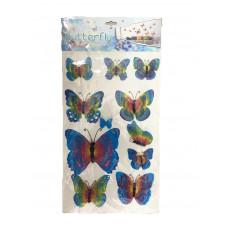 Наклейки HM-BC/DQ 001-020 (бабочки средние)