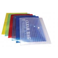 Папка- конверт на кнопке прозрачная А4 My Clear Bag W209