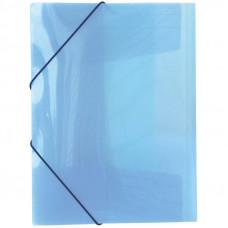 Папка на резинке прозрачно - цветная 988