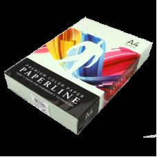 Цветная бумага офисная А4160 гр/250л №130 LAGOON - Светло-зеленая Paperline