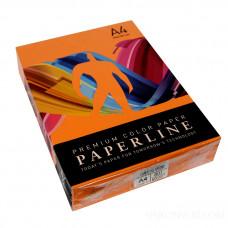 Цветная бумага офисная А4 80 гр/500л №240 SAFFRON - оранжевая Paperline