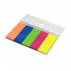 Закладки самоклеящиеся пластик 5 цв/55л