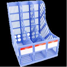 Лоток вертикальный 3-х секционный пластиковый JinRiMei