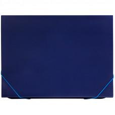 Папка 6 отделений OfficeSpace, A4, 500мкм, на резинке, синяя