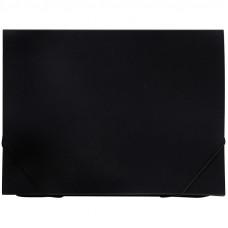 Папка 6 отделений OfficeSpace, A4, 500мкм, на резинке, черная