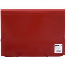 Папка 6 отделений OfficeSpace, A4, 500мкм, на резинке, красная