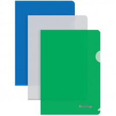 Папка-уголок Berlingo, А5, 180мкм, синяя