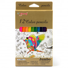 Карандаши цв.12цв  JAMBO YL10009-12
