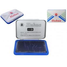 Штемпельная подушка 105 х70 мм,- синяя краска/ металлическая упаковка Horse/Huhua 3.