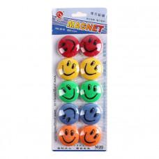 Магниты цветные смайлик для досок 35мм 3510