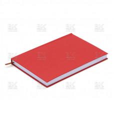 Ежедневник недатированный красный А5,136 листов клетка 2520
