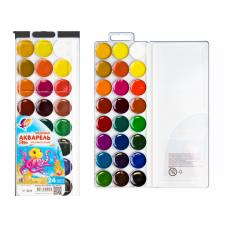 Краски акварельные 24цв,б/кист пласт,уп,ZOO(Луч) к/30
