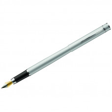 """Ручка перьевая Luxor """"Sleek"""" синяя, 0,8мм, корпус серый металлик"""