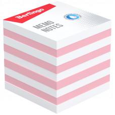 """Блок для записи Berlingo """"Standard"""", 9*9*9,5см, цветной, белый, розовый"""