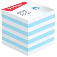 """Блок для записи Berlingo """"Standard"""", 9*9*9см, цветной, белый, голубой"""